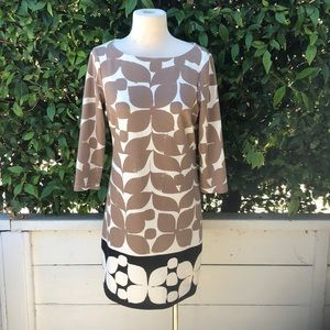 2/ $25 sale! London Times Tan Print Dress